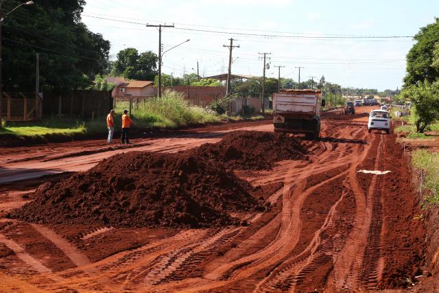 Frente de obras estão na Linha do Potreirito  que passa pelo Parque II e dá acesso a diversos bairros. - Crédito: Foto: A. Frota/Assecom