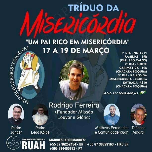 Comunidade  Ruah realiza o Tríduo da Miseridórdia -