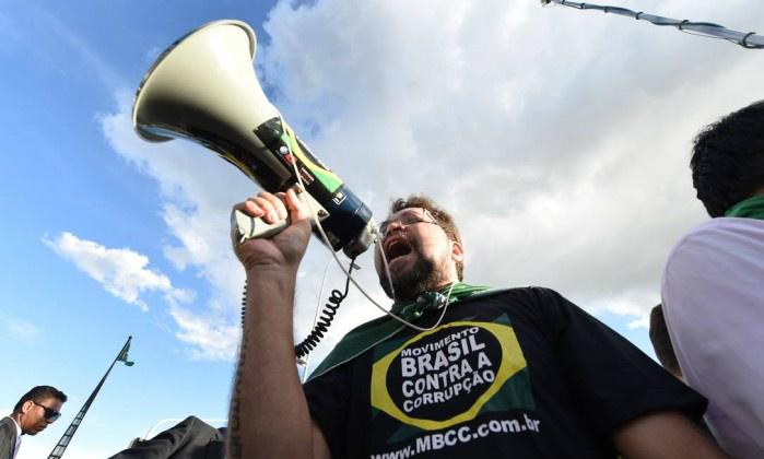 Manifestantes protestam em Brasília. EVARISTO SA / AFP -