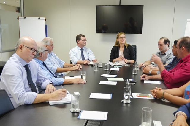 Reunião contou com participação de representantes da Fiems, Senai, Sesi, IEL, Prefeitura e Biosul - Crédito: Foto: Divulgação