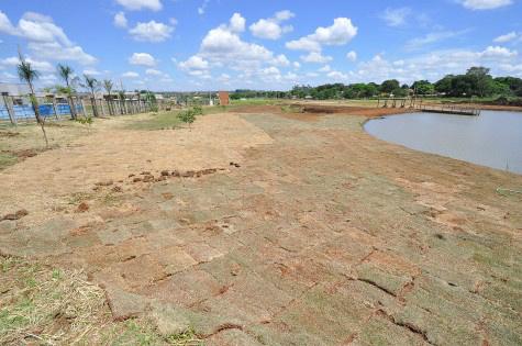Parque Primo Vicente, no Grande Água Boa, é preparado para receber a Festa do Peixe; este ano a pesca será em dois lagos. Foto: A. Frota/Assecom - Crédito: divulgação