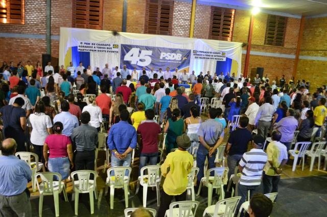 Um dos momentos do ato de filiação do PSDB no último dia 18. - Crédito: Foto: Divulgação