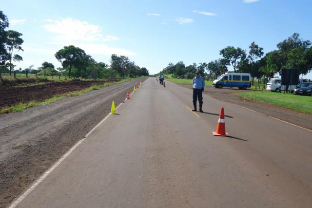 Atuação nas estradas estaduais começou esta manhã em MS. - Crédito: Foto: Divulgação/PMRV