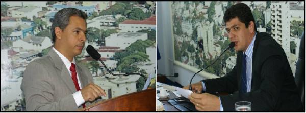 Os ex-vereadores Humberto Teixeira Júnior e Sidlei Alves Fotos – Hédio Fazan - Crédito: Arquivo