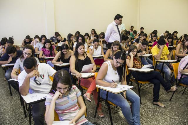 Estudantes de todos os semestres fazem a avaliação. - Crédito: Foto: Divulgação