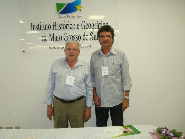 Diretor do departamento de meio ambiente e o secretário de desenvolvimento econômico. - Crédito: Foto: Divulgação
