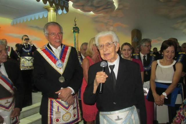 Júlio Capilé foi homenageado em Brasília durante sessão da Assembleia Federal Legislativa Maçônica. - Crédito: Foto: Divulgação