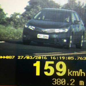PRF segue flagrando excessos de velocidades nas estradas. - Crédito: Foto: Divulgação