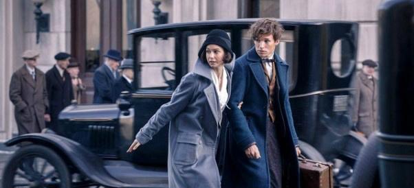 Cena do novo filme do Universo de Harry Potter, agora fixado no personagem Newt Scamander. Foto: Divulgação/Filmes -