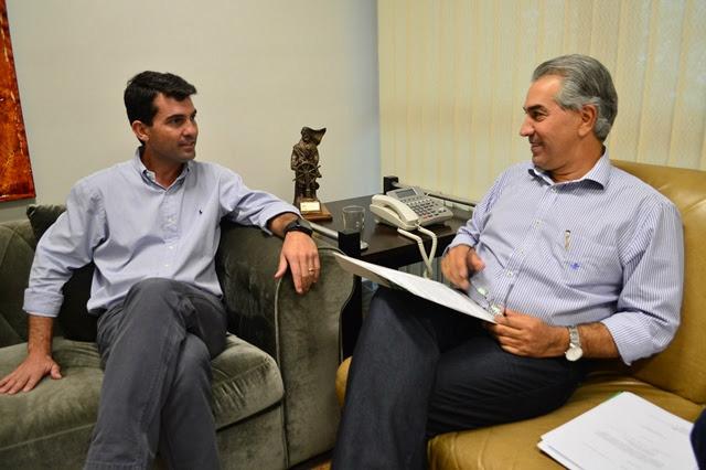 Bortolotto e governador firmaram compromisso para o Soja Brasil, que acontece no próximo dia 7 em Maracaju. - Crédito: Foto: Divulgação