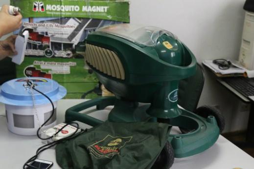 Máquina tem por objetivo sugar a fêmea, transmite a dengue, zika e a chikungunya Foto: Campo Grande News -