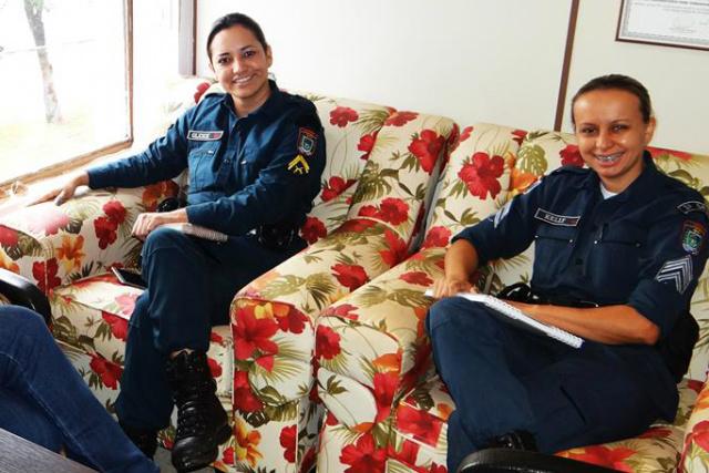 As PM's Gleice e Kelly participam da organização do evento. - Crédito: Foto: Divulgação