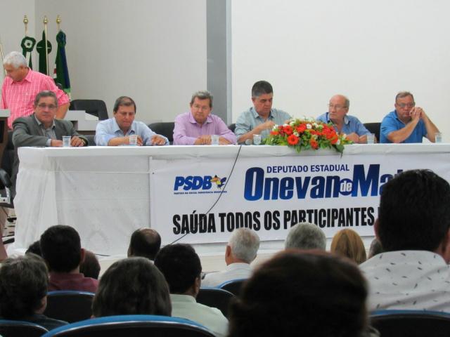PSDB realizou encontro regional sábado em Naviraí; sexta-feira será em Dourados. - Crédito: Foto: Fernando Ortega