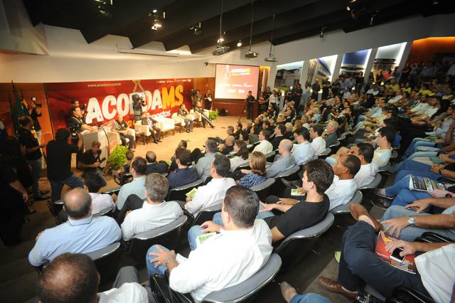 O lançamento da campanha Acorda MS atraiu centenas de pessoas, que lotaram o auditório da Casa da Indústria. - Crédito: Foto: Divulgação/FIEMS