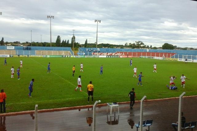 Jogo no campo das Moreninhas aconteceu na tarde de ontem válido pela primeira rodada do Campeonato. - Crédito: Foto: Divulgação/FFMS