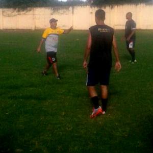 Jogadores treinam para a partida contra o Aquidauanense. - Crédito: Foto: Divulgação