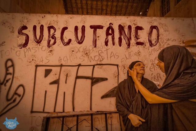 """Peça """"Subcutâneo – O Que te Define está Por Baixo da Pele"""", se passa depois de um golpe de Estado, com o novo governo intolerante às diferenças culturais. - Crédito: Foto: Divulgação"""