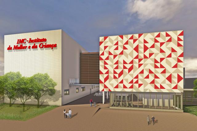 Maquete ilustrativa do futuro Hospital da Mulher e da Criança. - Crédito: Foto: Ilustração