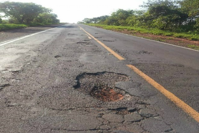 MPF aponta irregularidades na revitalização da BR-262, entre Três Lagoas e Água Clara. - Crédito: Foto: Site Água Clara MS