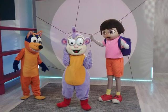 Espetáculo mostra Dora, que é uma simpática menina e seu amigo Botas, um macaco de botas vermelhas. Juntos, eles protagonizam várias aventuras. - Crédito: Foto: Divulgação
