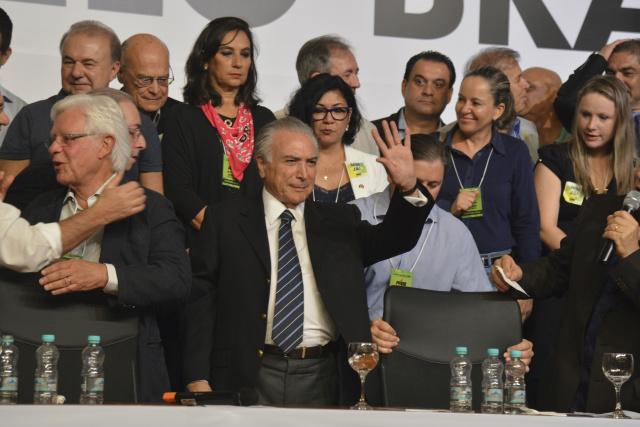 Michel Temer foi reeleito presidente nacional do PMDB. - Crédito: Foto: Valter Campanato/Agência Brasil