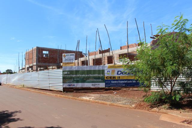 Cerca de 40% das obras de construção do Centro Especializado em Dourados já foram executadas. - Crédito: Foto:  Ricardo Minella