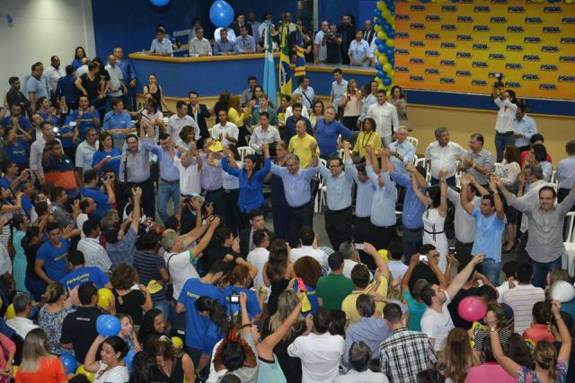 Ato de filiação de mais 1,6 mil tucanos em Campo Grande, aconteceu na quinta-feira, na Câmara  Municipal de Vereadores. - Crédito: Foto: Divulgação