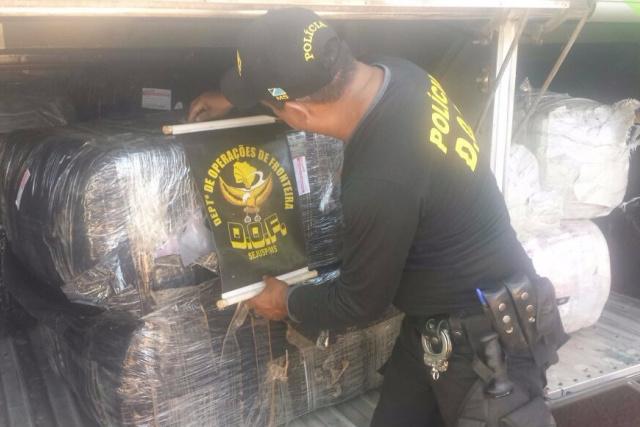 Contrabando avaliado em R$ 150 mil foi apreendido em Dourados. - Crédito: Foto: Divulgação