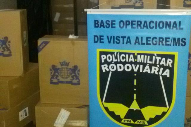 Carga foi interceptada pela Polícia Militar Rodoviária Estadual. - Crédito: Foto: Divulgação/PMRV