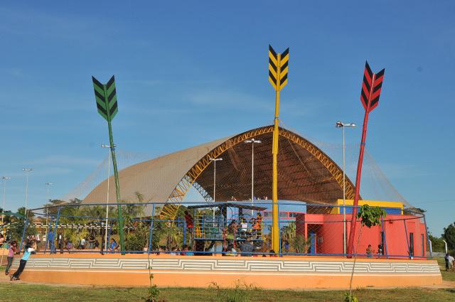 Mídia vai mostrar pontos turísticos de Dourados, como Vila Olímpica, durante passagem da tocha. - Crédito: Foto: Assecom