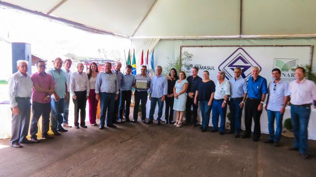 Cerimônia de posse da nova diretoria do Sindicato Rural de Ponta Porã, no último sábado - Crédito: Foto: Divulgação