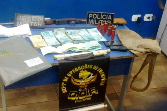Homem armado teria rendido dono de agência e roubado. - Crédito: Foto: Caarapo News
