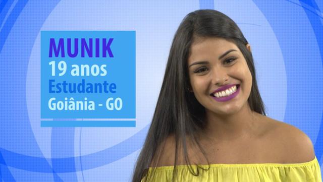 Munik vence a final do programa. - Crédito: Foto: Divulgação/Globo