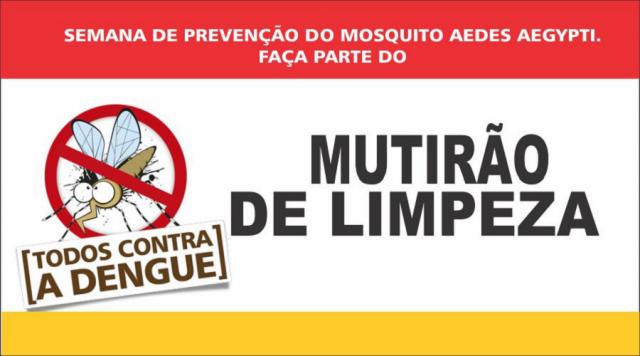 Mutirões contra o Aedes aegypti vistoriou quase 5 mil imóveis na semana passada. - Crédito: Foto: Divulgação