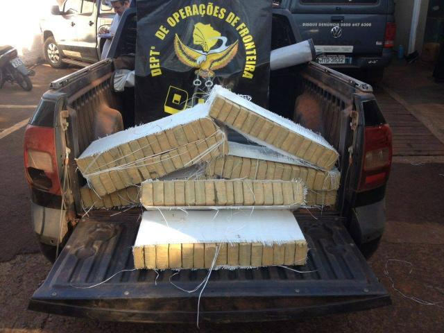 Entre as apreensões encontra-se 500kg de maconha Foto: DOF -
