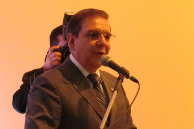 Marcelo Vargas durante pronunciamento no ato de posse. - Crédito: Foto: Divulgação