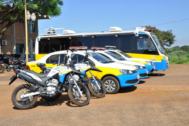 Guarda Municipal de Dourados recebe novas viaturas e estrutura para monitoramento. - Crédito: Foto: A. Frota