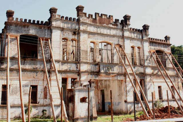 Castelinho com escoramento em Ponta Porã faz parte do Patrimônio Histórico e Cultural do Estado de Mato Grosso do Sul. - Crédito: Foto: Walmir Quintana