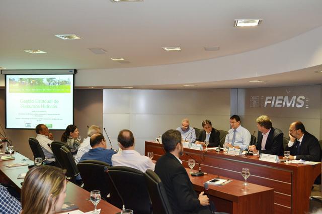 Debate dos empresários de MS, foi na Fiems e contou com a participação da CNI e da Semade. - Crédito: Foto: Divulgação