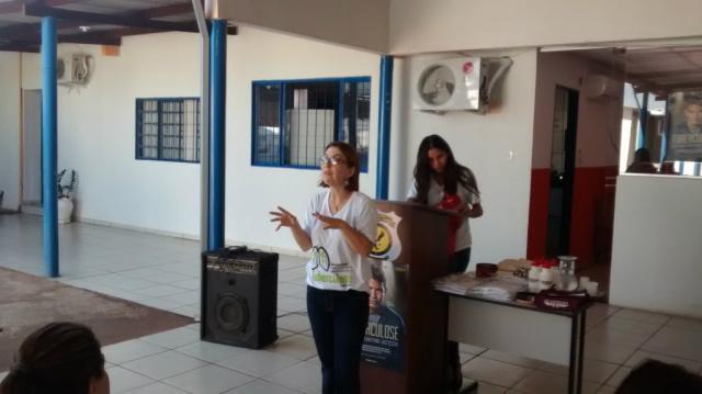 Agepen recebe orientação sobre tuberculose. - Crédito: Foto: Divulgação