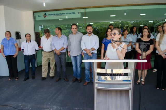 Nova recepção do hospital de Itaporã é inaugurada. - Crédito: Foto: Assecon/ Divulgação