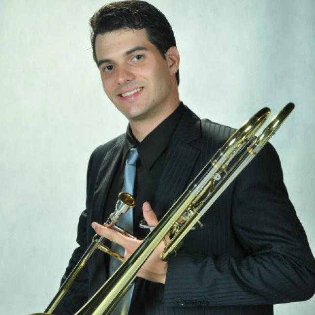 Coral de Trombones da UFMS é coordenado pelo professor e trombonista Jackes Douglas. - Crédito: Foto: Divulgação