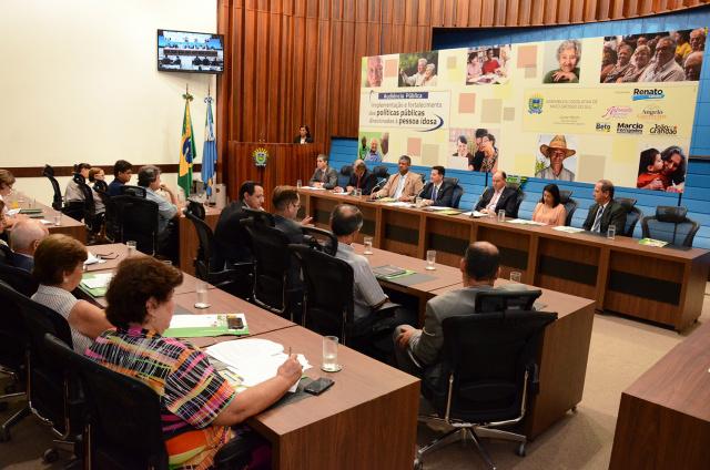Audiência pública direcionada à pessoa idosa, aconteceu na tarde de quarta-feira - Crédito: Foto: Divulgação