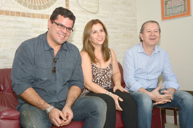 Rodrigo Mendes, Beatrice Bruno e Ricarco Campo em O PROGRESSO. - Crédito: Foto: Marcos Ribeiro