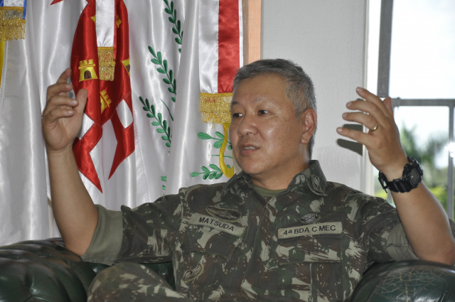 General Rui Yutaka Matsuda deixa o comando da 4ª Brigada de Dourados  dia 23. - Crédito: Foto: Hedio Fazan