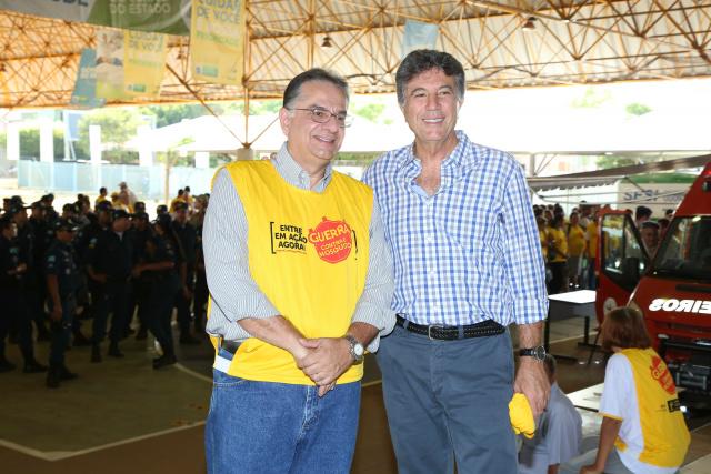 Murilo e o secretário Tavares recebem Reinaldo neste sábado. - Crédito: Foto: Divulgação