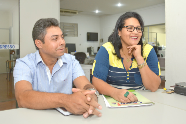 Vice-presidente Gilmar Ribeiro e a presidente Márcia Ayala. - Crédito: Foto: Marcos Ribeiro