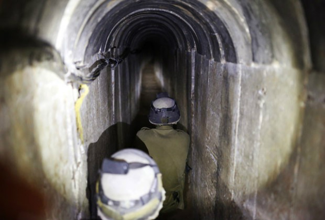 Esse túnel foi o 1º desde conflito de 2014. - Crédito: Foto: Divulgação/G1