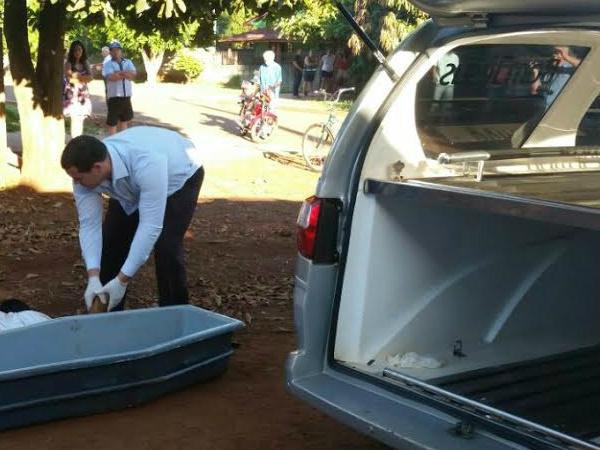 Homem foi encontrado morto na rua Foto: Cido Costa/Dourados Agora -