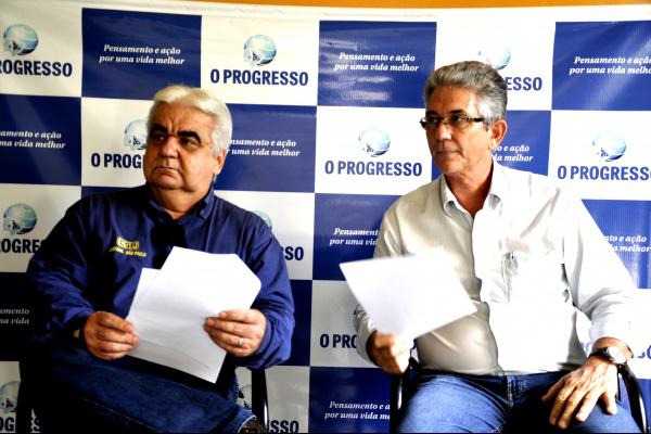 Milton Luna e Décio Rosa Filho em entrevista ao o PROGRESSO. Foto: Hédio Fazan -